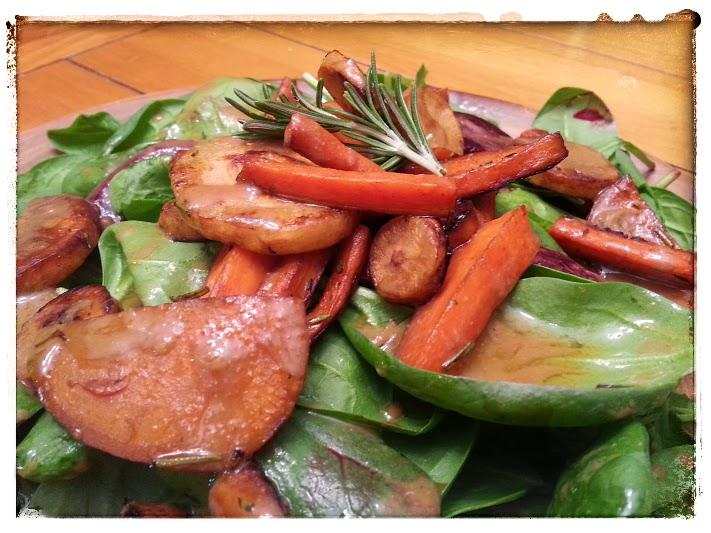... Root Vegetable Salad with Balsamic Dijon Vinaigrette | Wild Game Vegan